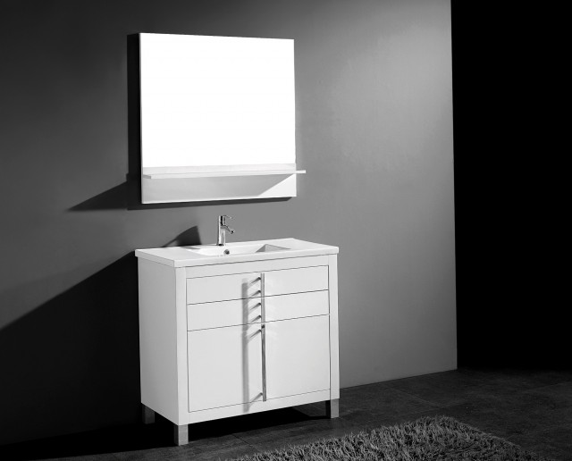 30 Inch White Bathroom Vanity
