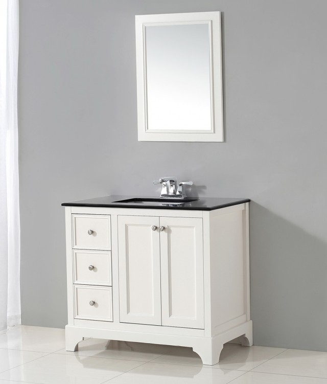 36 Inch Bathroom Vanity White