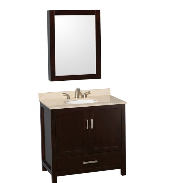 36 Inch Vanity With Offset Sink