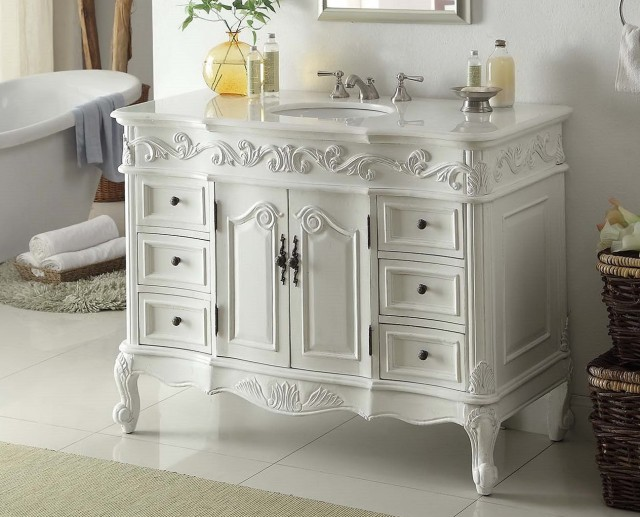 42 Bathroom Vanity White