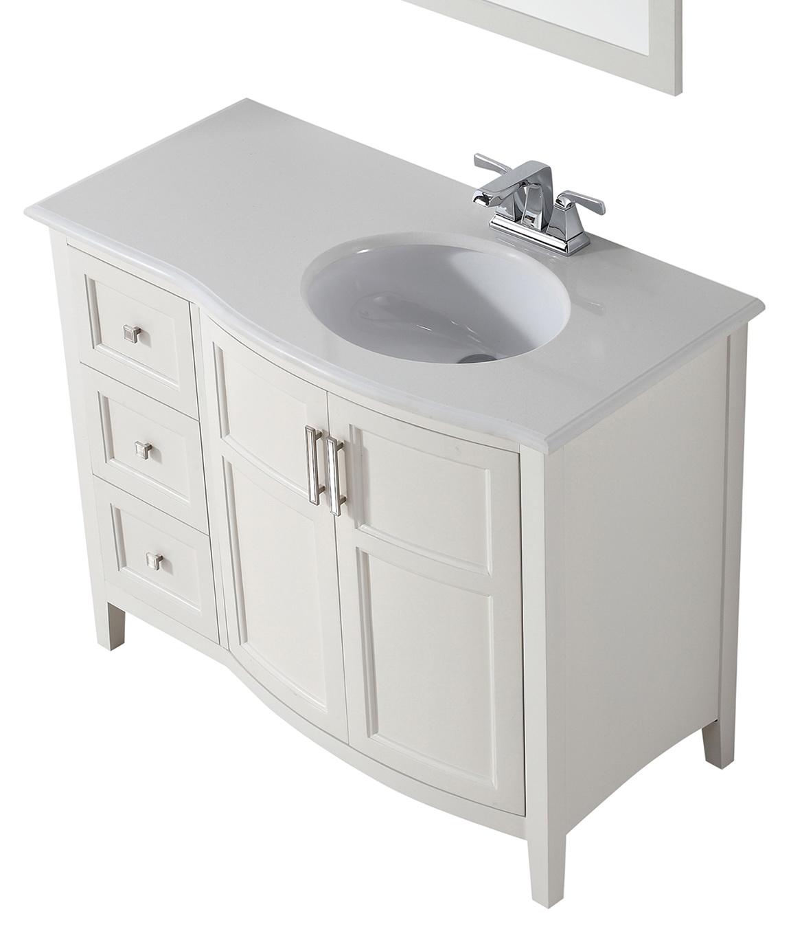 42 Inch Bathroom Vanity White