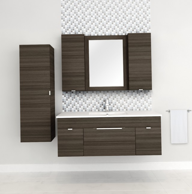 48 Inch Vanity With Linen Tower