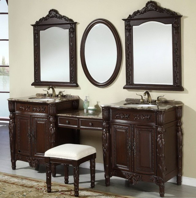 Antique Bathroom Vanity With Mirror