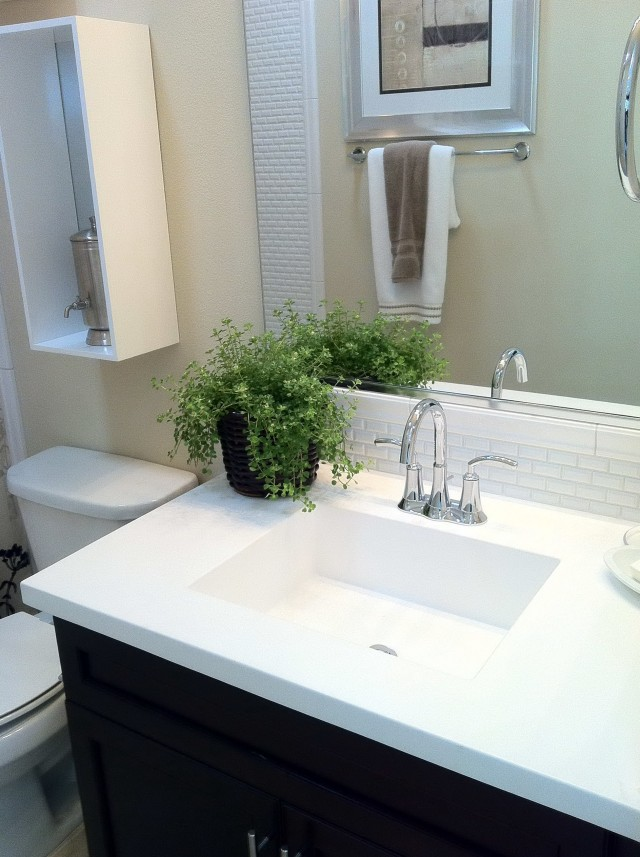 Bathroom Vanity Tops With Square Sink