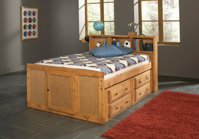 Bed With Headboard And Drawers