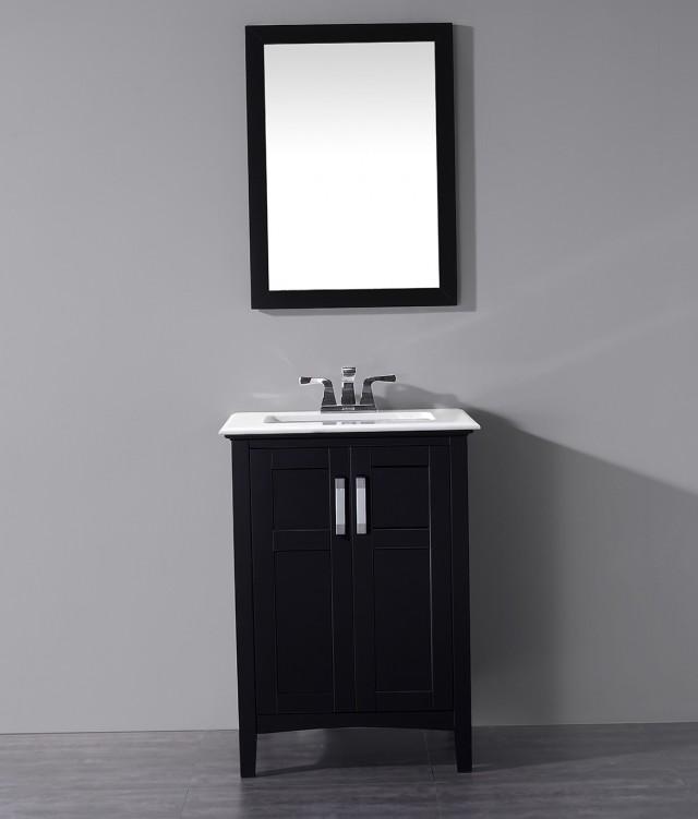 Black 24 Inch Bathroom Vanity