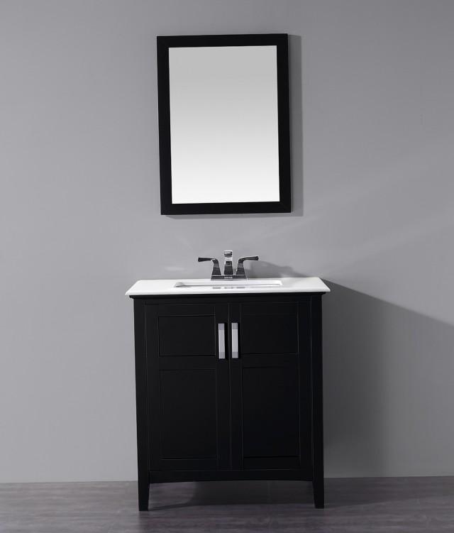 Black Bathroom Vanity 30