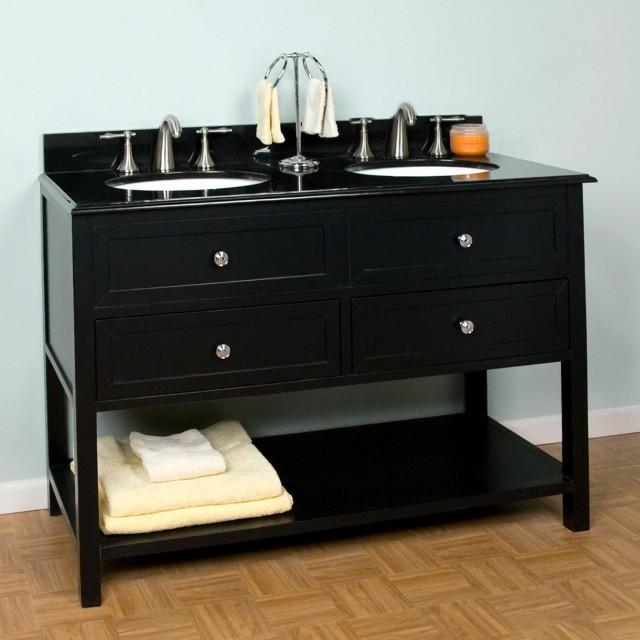 Black Bathroom Vanity With Top