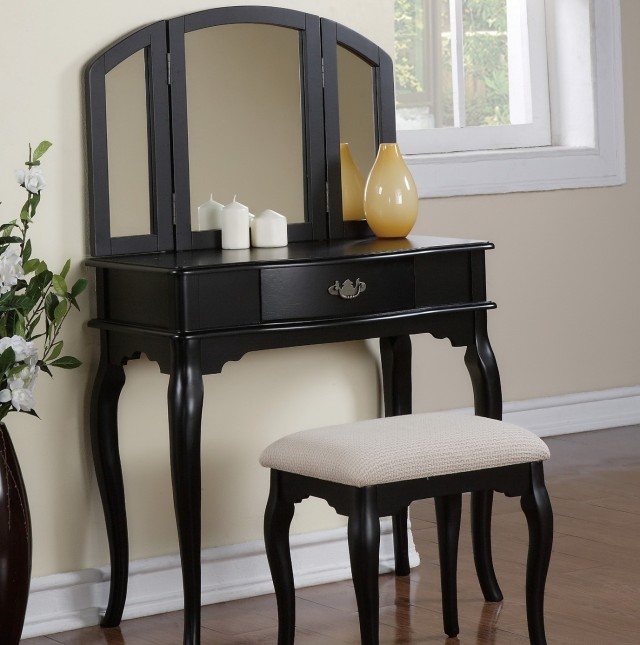 Black Bedroom Vanity Set