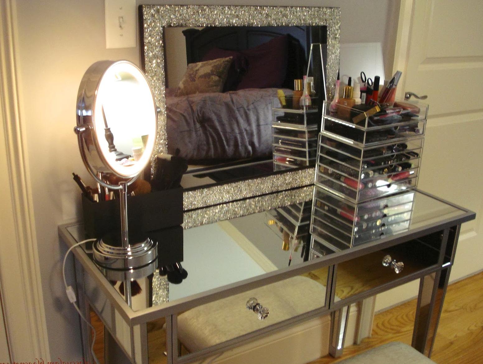 Black Makeup Vanity With Lights