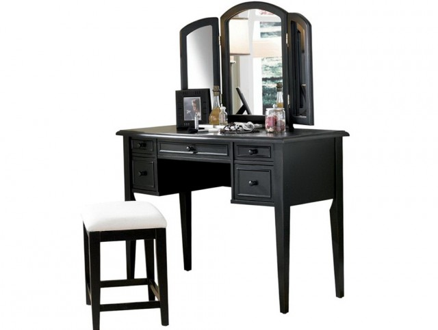 Black Vanity Table And Chair