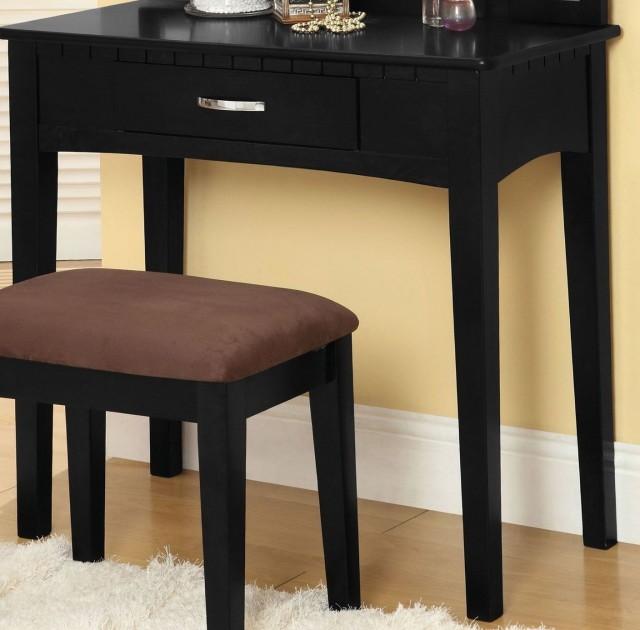 Black Vanity Table No Mirror