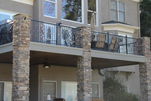 Black Wrought Iron Porch Railings