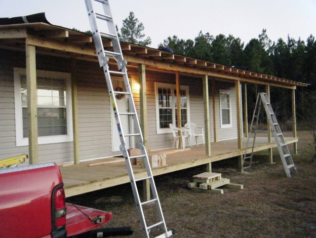 Building A Porch Roof On A Mobile Home