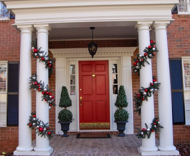 Christmas Decorating Ideas Porch Ceiling