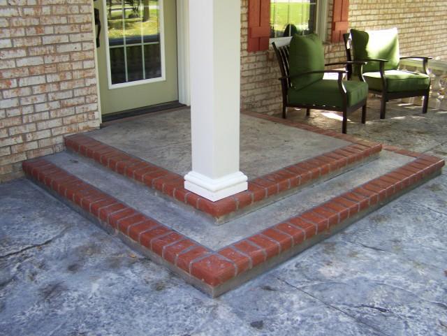 Concrete Front Porch Makeover