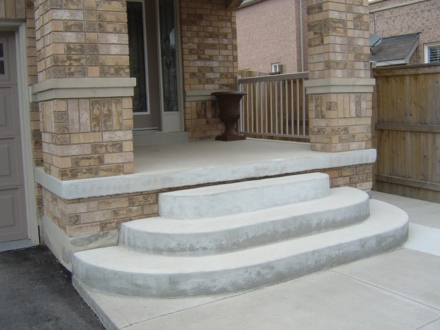 Concrete Front Porch Steps