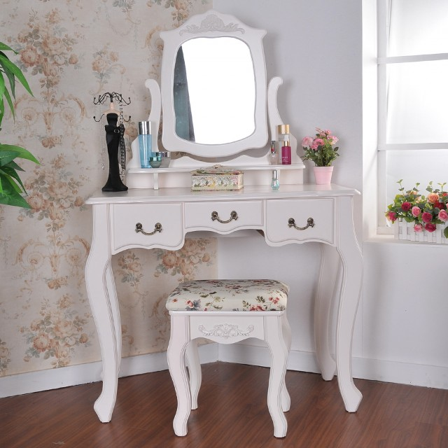 Corner Vanity Table With Mirror