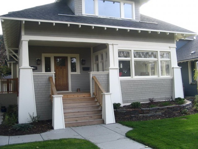 Craftsman Front Porch Steps