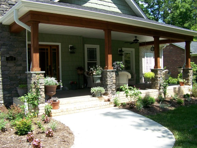 Craftsman Style Front Porch Railings