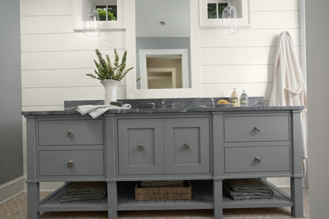 Dark Grey Bathroom Vanity