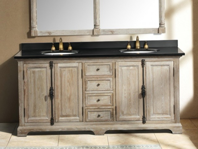 Distressed Grey Bathroom Vanity
