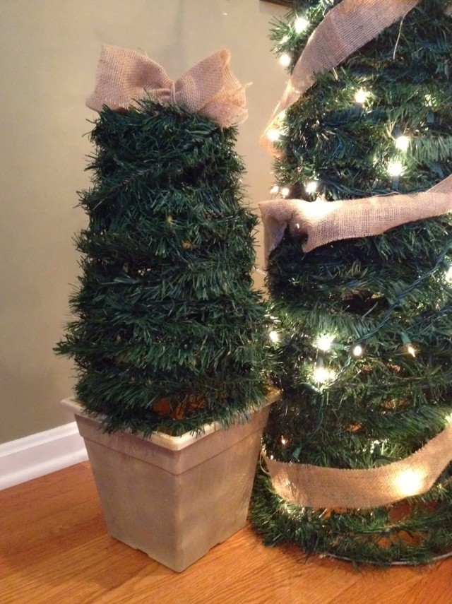 Diy Porch Christmas Trees