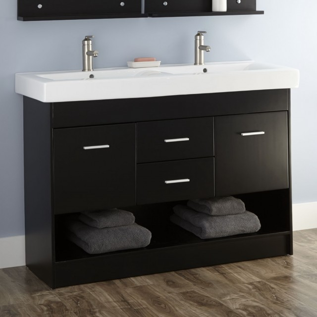 Double Sink Bathroom Vanity Cabinets
