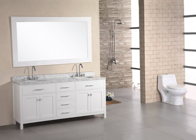 Double Sink Vanity Carrara Marble Top