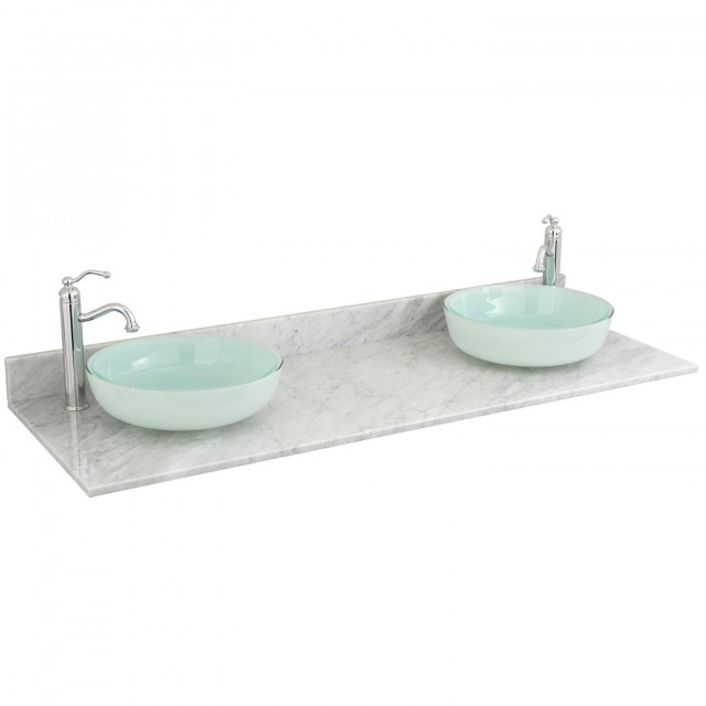 Double Sink Vanity Top 61