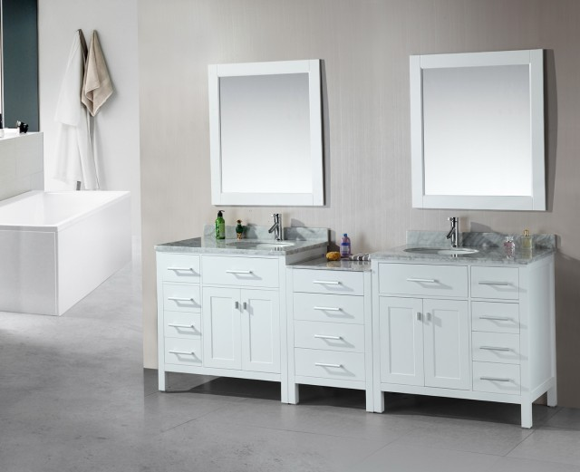Double Sink Vanity White