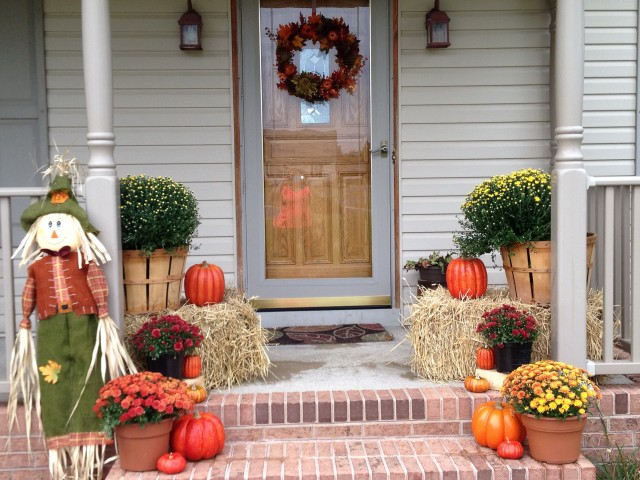 Fall Decorations For Front Porch Pictures