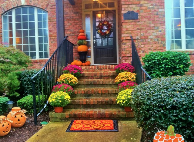 Fall Porch Decorations On Pinterest