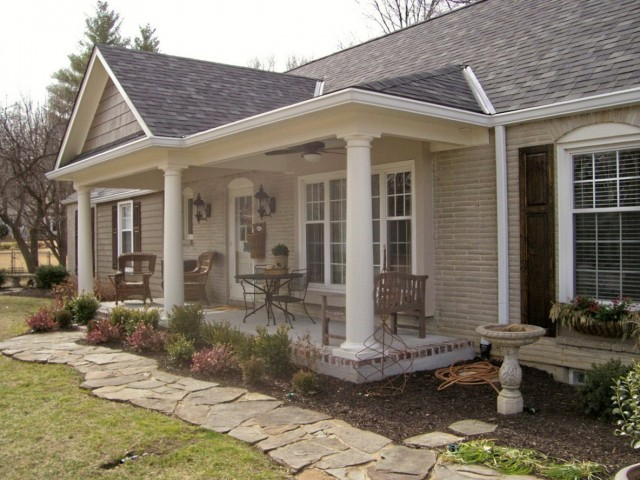 Front Porch Addition Ranch House