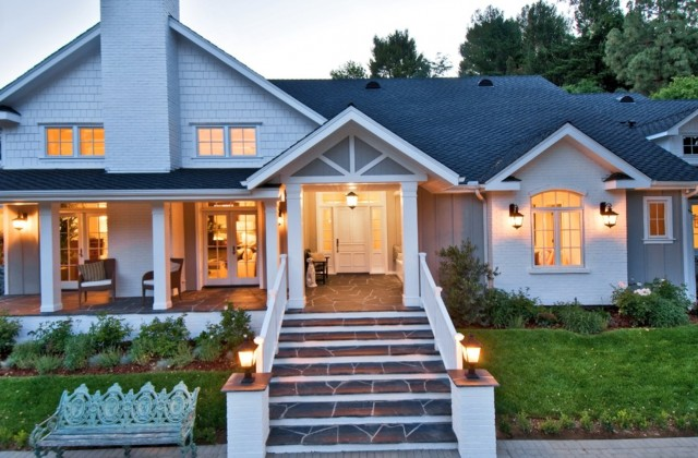 Front Porch Addition Ranch Style Home
