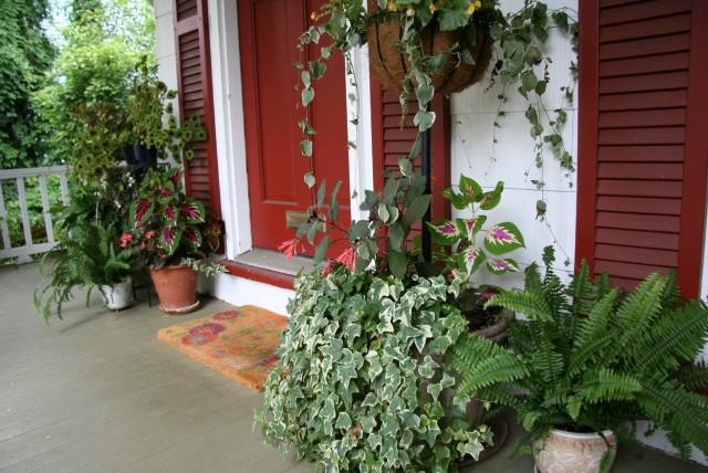 Front Porch Potted Plants