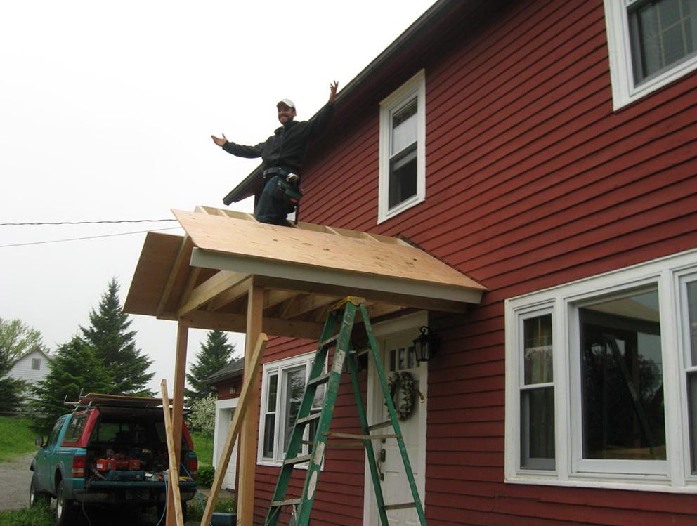 Front Porch Roof Framing Details