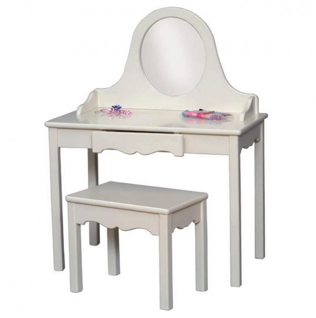 Girl Vanity Table With Mirror