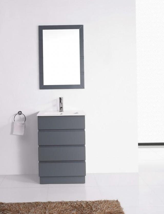 Gray Bathroom Vanity Single