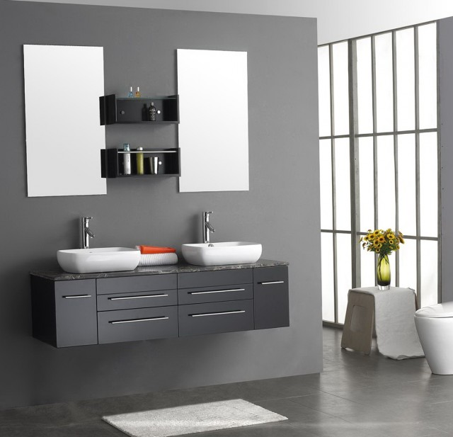Gray Vanity For Bathroom