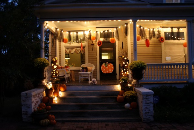 Halloween Porch Decorations Photos