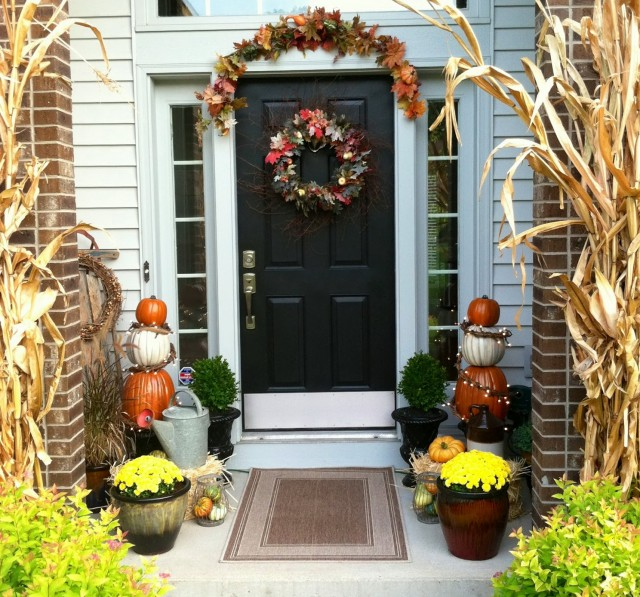 Images Of Front Porches Decorated For Fall