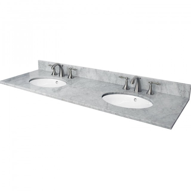Marble Double Sink Vanity Top