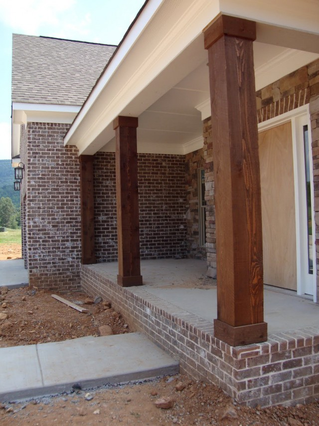 Natural Wood Porch Columns