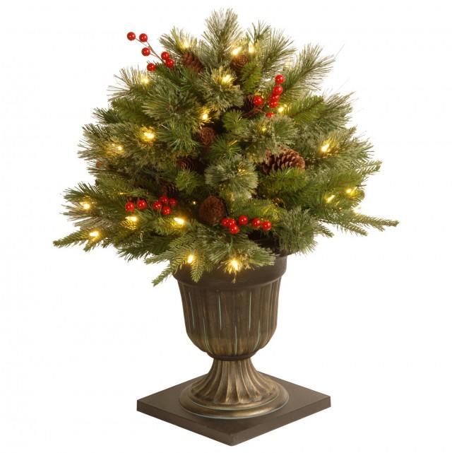 Porch Christmas Trees Pre Lit