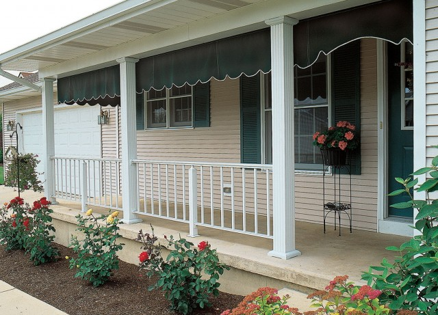 Porch With Tapered Square Columns