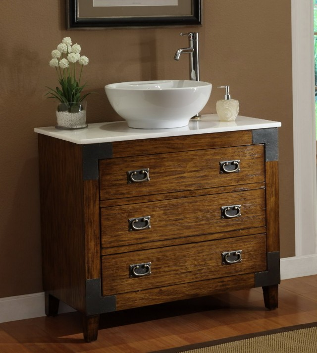 Powder Room Vanities With Vessel Sinks