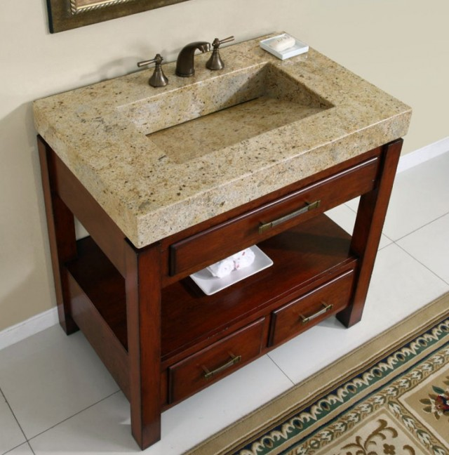 Rustic Bathroom Vanities With Tops