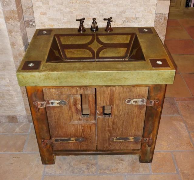 Rustic Bathroom Vanity With Sink