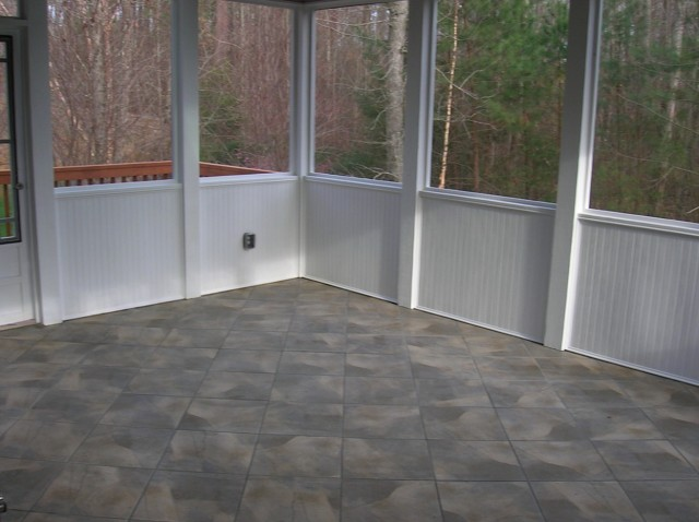 Screened In Porch Flooring Ideas
